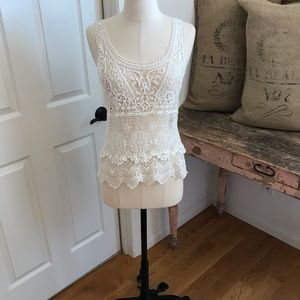Tops - Lf Store Stella crochet tank size small. New